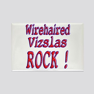 Wirehaired Vizslas Rectangle Magnet