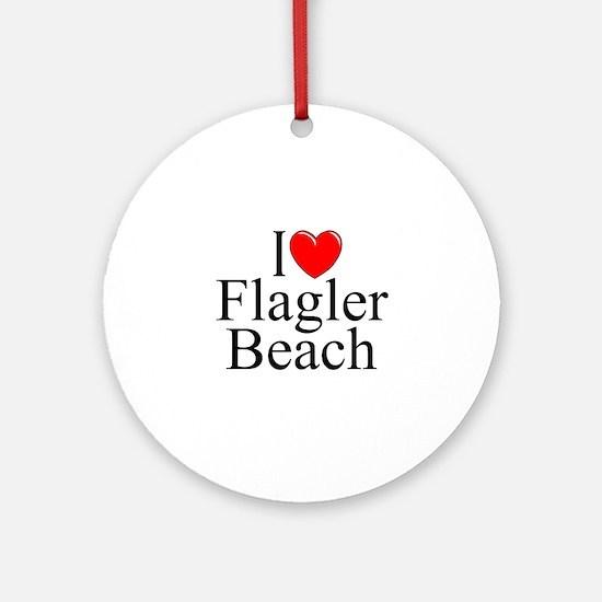 """I Love Flagler Beach"" Ornament (Round)"