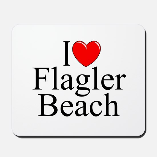 """I Love Flagler Beach"" Mousepad"