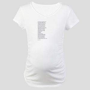 Poem Original Maternity T-Shirt