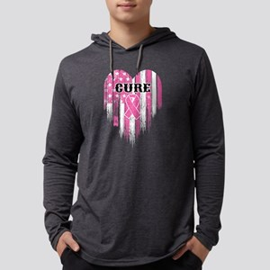 Breast Cancer Cure Mens Hooded Shirt