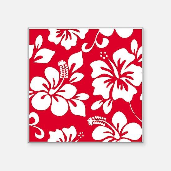 Red Hawaiian Hibiscus Sticker