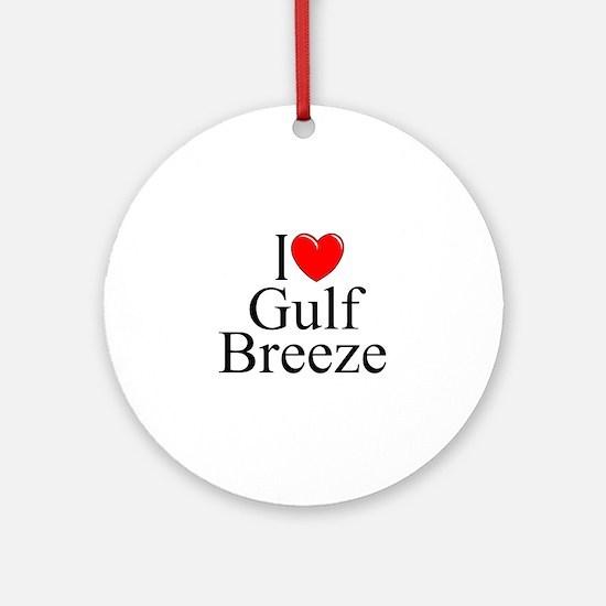 """I Love Gulf Breeze"" Ornament (Round)"