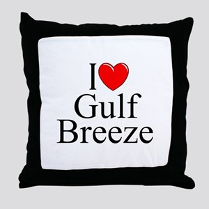 """I Love Gulf Breeze"" Throw Pillow"