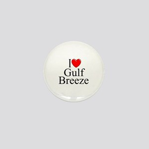 """I Love Gulf Breeze"" Mini Button"