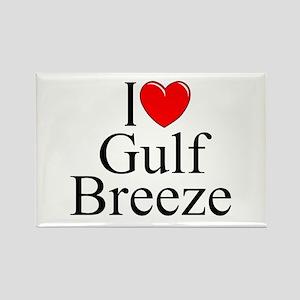 """I Love Gulf Breeze"" Rectangle Magnet"