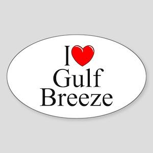 """I Love Gulf Breeze"" Oval Sticker"