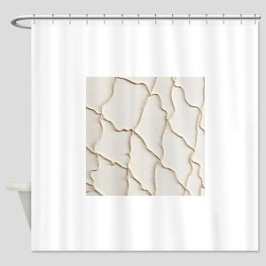 Ivory Beige Fishing Net Shower Curtain