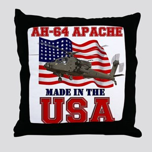 AH-64 Apache Throw Pillow