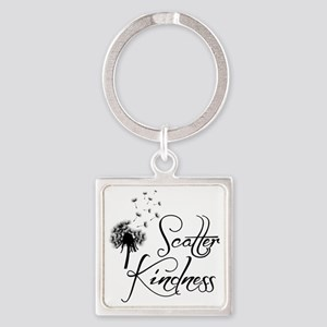 SCATTER KINDNESS Square Keychain