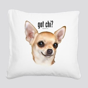 Got Chi? (fawn) Square Canvas Pillow