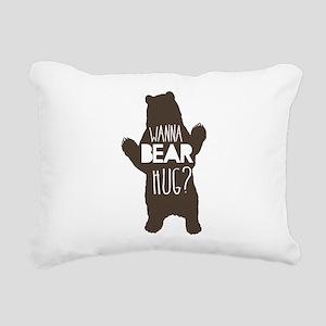 Wanna Bear Hug? Rectangular Canvas Pillow