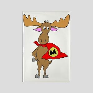 Superhero Moose Rectangle Magnet