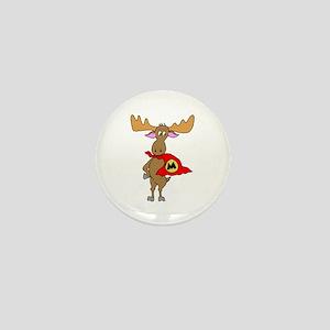 Superhero Moose Mini Button