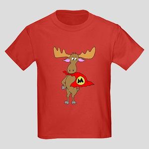 Superhero Moose Kids Dark T-Shirt