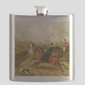 Riding Sidesaddle to the Hunt Flask