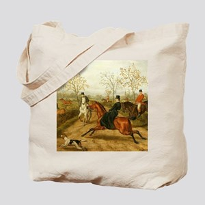 Riding Sidesaddle to the Hunt Tote Bag