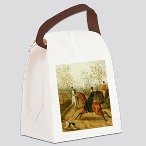 Riding Sidesaddle to the Hunt Canvas Lunch Bag