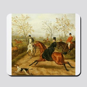 Riding Sidesaddle to the Hunt Mousepad