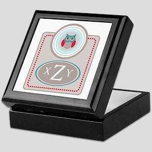 Owl Monogram Keepsake Box