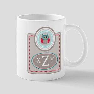 Owl Monogram Mugs