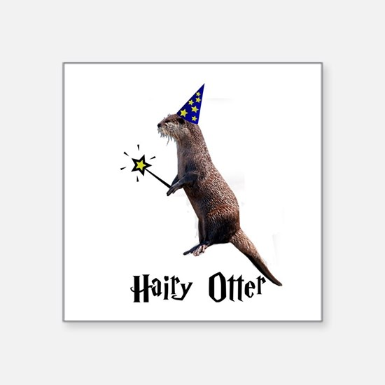 """Cool River otter Square Sticker 3"""" x 3"""""""