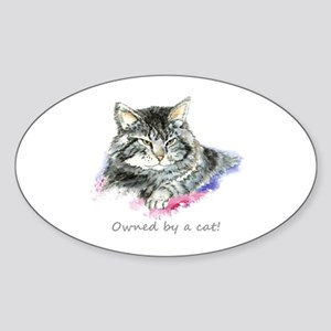 Owned By A Cat Fun Quote Sticker