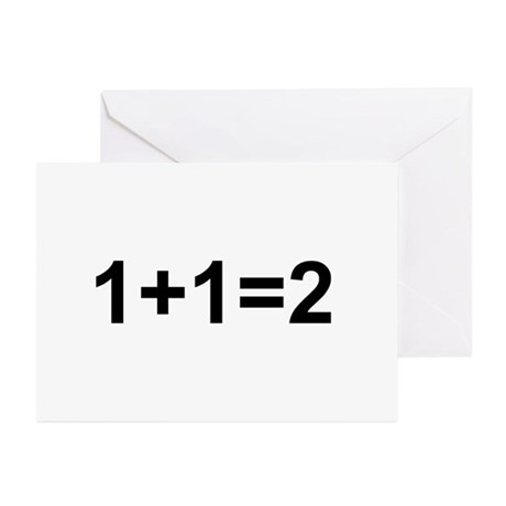 1+1=2 Greeting Cards (Pk of 10)