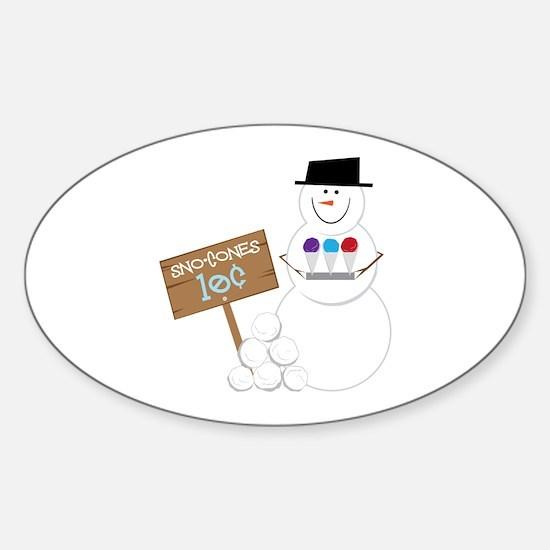 Sno-Cones Snowman Decal