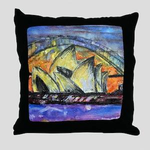Hot Sydney Night Throw Pillow