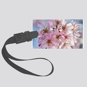 Japanese Cherry Blossoms Large Luggage Tag