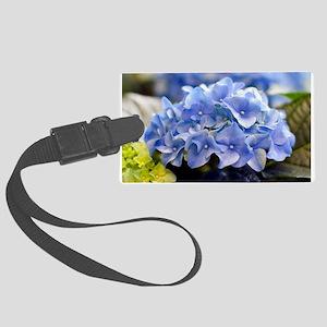 Blue Hortensia Large Luggage Tag