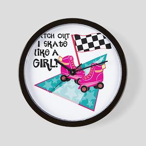 Watch out I Skate Like A Girl Wall Clock