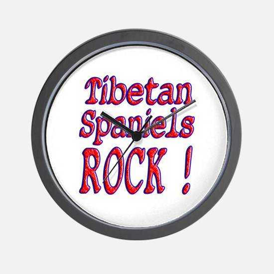Tibetan Spaniels Wall Clock
