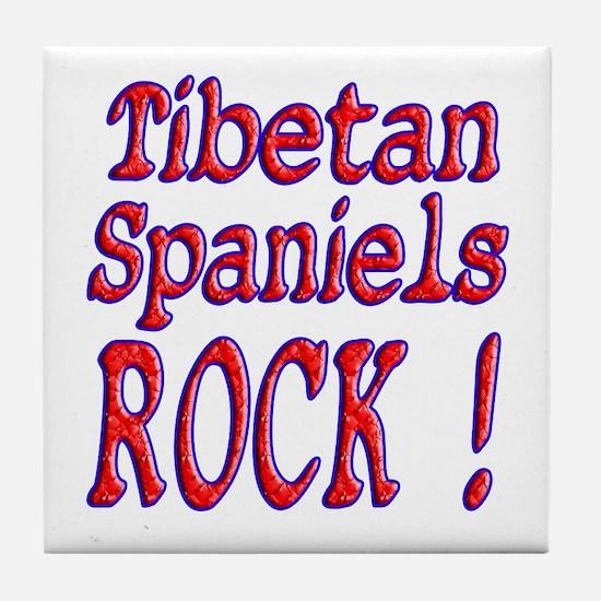 Tibetan Spaniels Tile Coaster