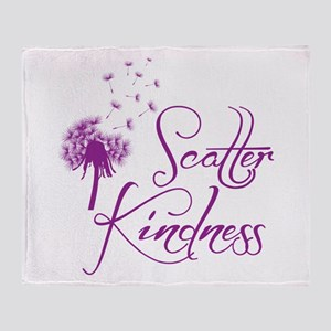 Scatter Kindness Throw Blanket
