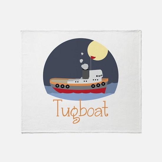 Tugboat Throw Blanket
