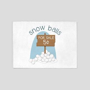Snow Balls 5'x7'Area Rug