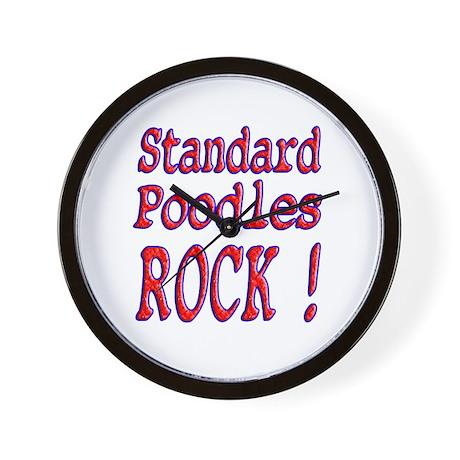 Standard Poodles Wall Clock