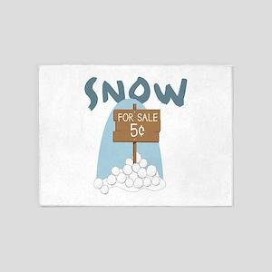 Snow 5'x7'Area Rug