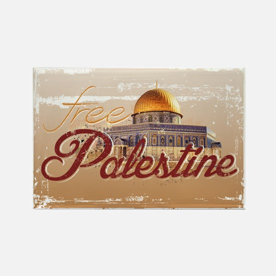 Free Palestine Rectangle Magnet (10 pack)