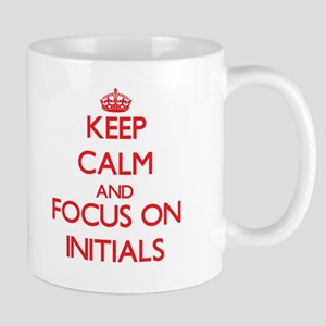 Keep Calm and focus on Initials Mugs