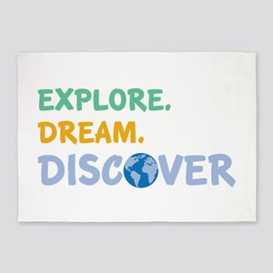 Explore,Dream,Discover 5'x7'Area Rug