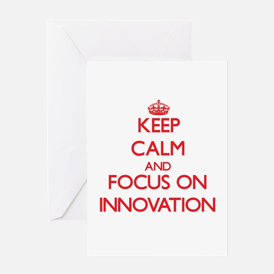 Keep Calm and focus on Innovation Greeting Cards