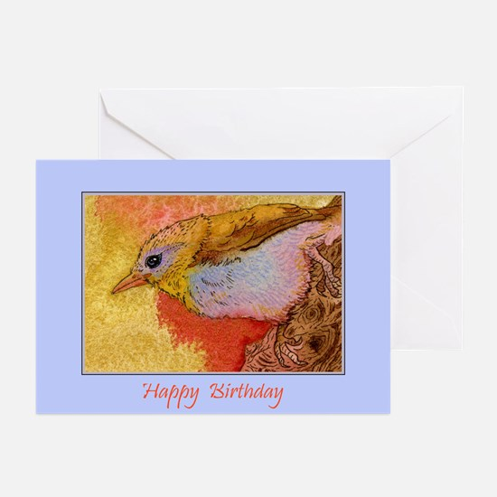 Happy Birthday Bird Greeting Cards (Pk of 10)
