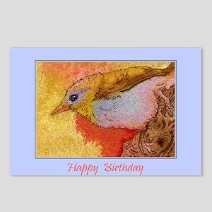 Happy Birthday Bird Postcards (Package of 8)