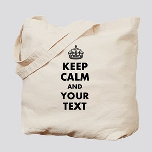 Personalized Keep Calm Tote Bag