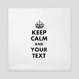Personalized Keep Calm Queen Duvet