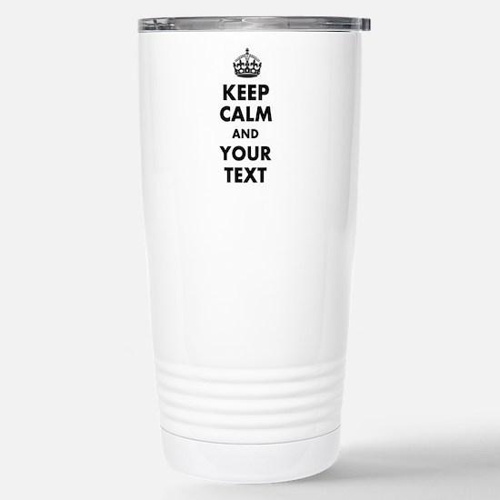 Personalized Keep Calm Travel Mug