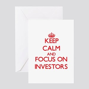 Keep Calm and focus on Investors Greeting Cards